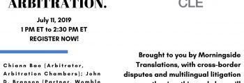 THE MAGIC WORDS: LANGUAGE TRANSLATION IN LITIGATION OR ARBITRATION | American Bar Association Webinar | July 11, 2019